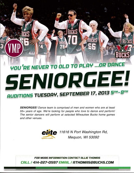 2013 Seniorgee Audition Flyer