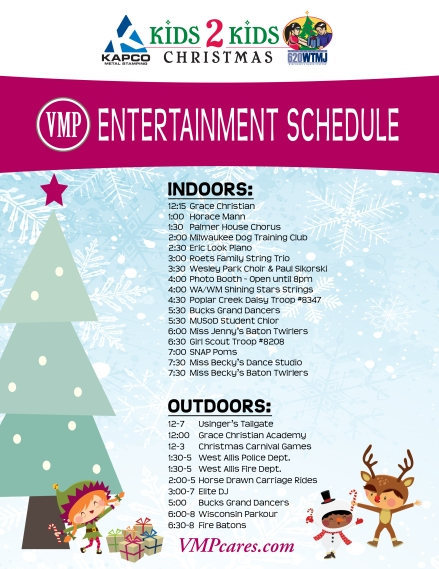 2013 - Kids2Kids Entertainment Schedule